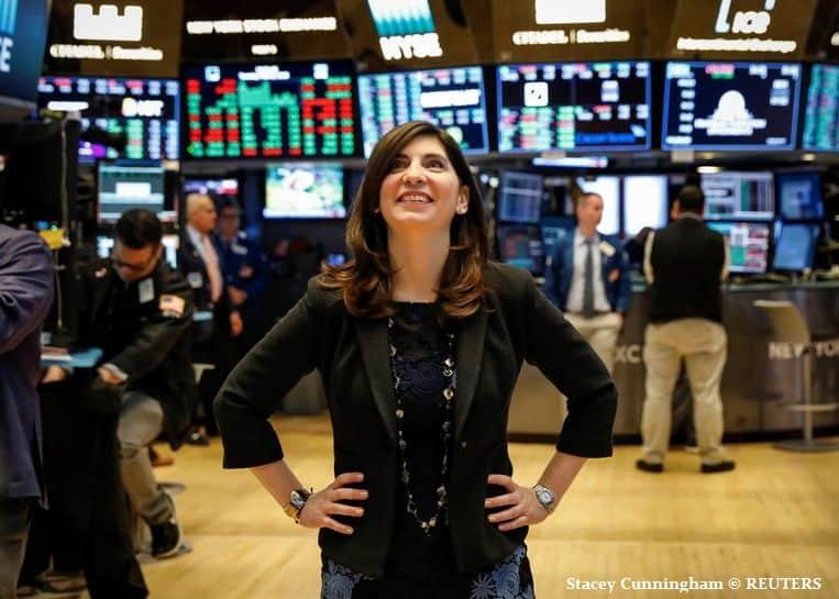 De eerste vrouwelijke directeur van de New Yorkse beurs: Stacey Cunningham
