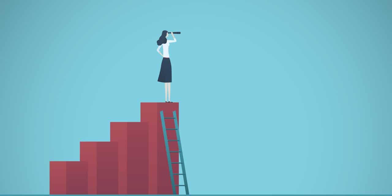 Het is voor vrouwen die een stap terug doen op carrièreladder lastig om weer omhoog te komen