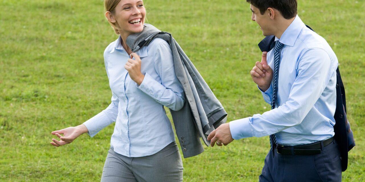 Wandelen om de relatie te verbeteren